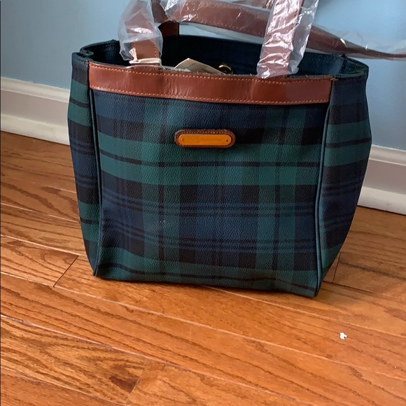 6fece85c8883 Polo Ralph Lauren tartan plaid purse